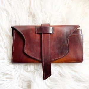 L. Howard Artistry in Leather Clutch Bag